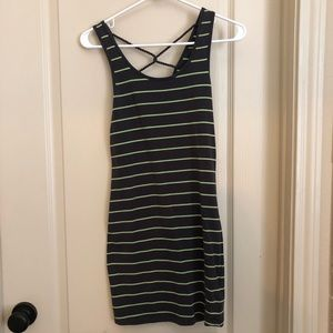 Garage Striped Fitted Dress (Xs)